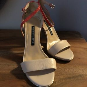 French connection strappy sandals